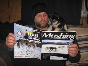 You can't even read a magazine around here without a dog looking over your shoulder!