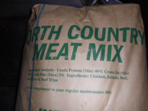 We buy 50 lb blocks of meat to use as snacks for the dogs. Yummy!!!